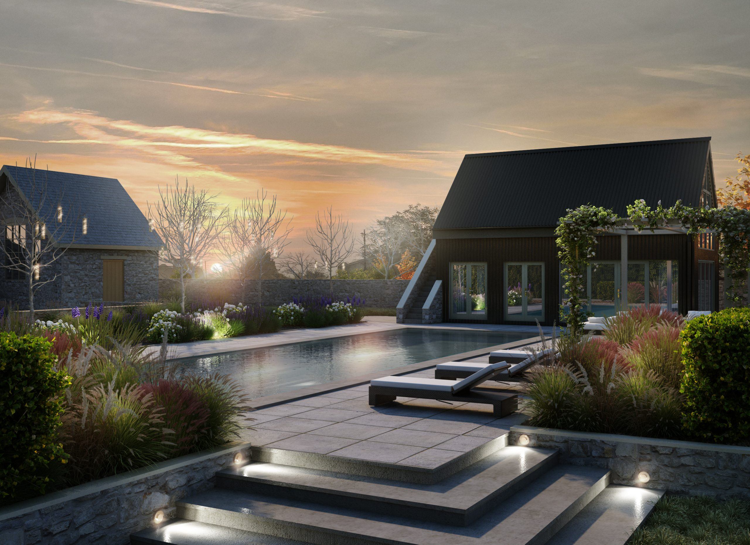 New Pool House and Gym, Cotswolds